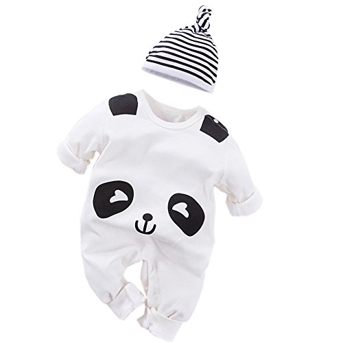 Fairy Baby - Mono - bebé niño Panda 59 cm 0-3 Meses
