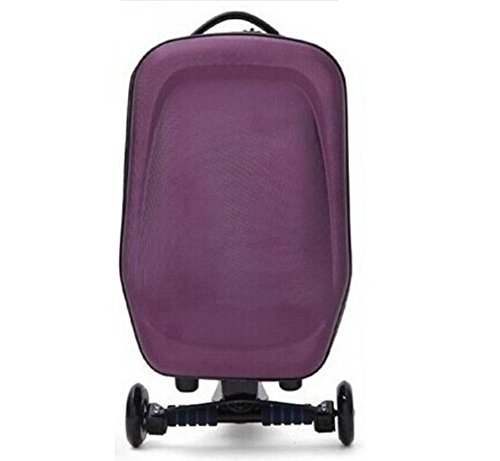 Borsa da viaggio Trolley scooter , yellow purple