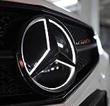 Motorfox LED Emblem Auto Kühlergrill Schwarz Stern Logo 2011-2019