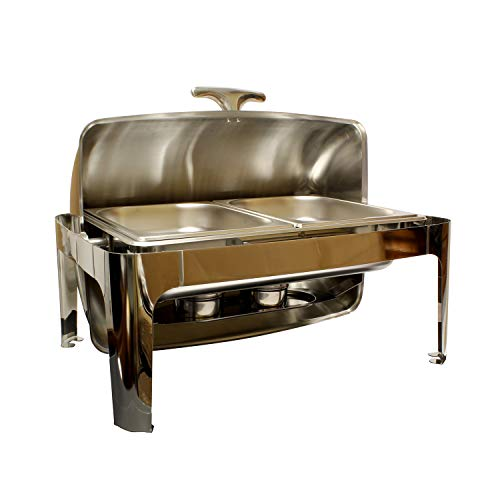 Chafing Dish Buffet Set - 8 Qt Chafing Dish Set Edelstahl Chafer Set mit 2 halben Größen Catering Tabletts (Dish Set Buffet Chafing)