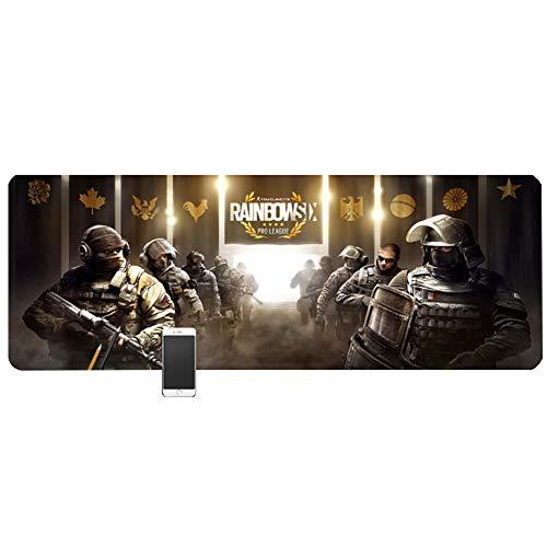 DRAGDE Oversized Padded Gaming Mouse pad (800x300x3mm), Laptop Desk mat, Esports Gaming Home Keyboard pad, Rainbow six Siege/CS/Counter-Strike/CF - Leder-counter