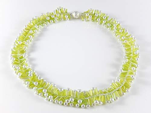 Perlenkette Sommerkette Halskette Damenschmuck Geburtstagsgeschenk Geschenkidee