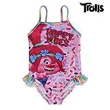 Trolls 2200002738 Costume Intero, con Volant, Bambina, Multicolore (5 anni)