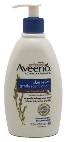 Aveeno Hautrelief Lotion Pflegende Coconut 12 Ounce Pump (354ml) (6-Pack) -