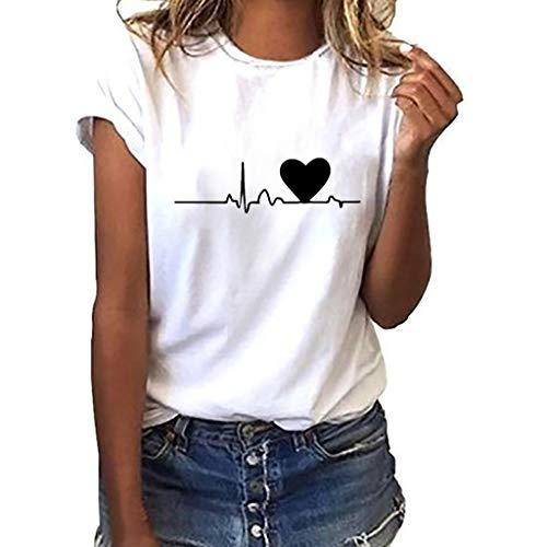 Qmber Damen Tunika Top Locker Langarm Frühling Sommer Knopfleiste Plissiert Floral Henley Shirt Bluse T Shirt Herren Unisex Chor Kostüm Paar tragen/White1,M (Halloween-kostüme Für Hunde Tumblr)