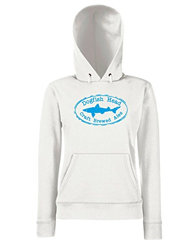 T-Shirtshock - Sweats a capuche Femme FUN1247 dogfish head oval logo sticker 69796 Blanc