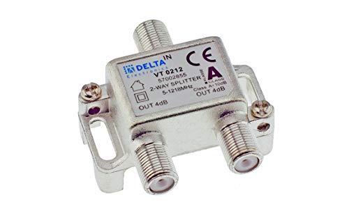 DCT Delta distributore 2 vie 5 1218 MHz distributore TV distributore BK DVB C TV via cavo splitter classe A e 10 dB