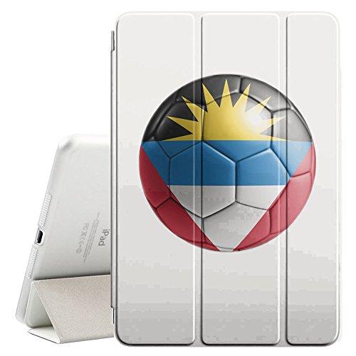 STPlus Bandera y balón antiguos del equipo de fútbol de Antigua y Barbuda Funda Carcasa con Stand Función y Imán Incorporado para el Sueño/Estela para Apple iPad Mini 1 / 2 / 3