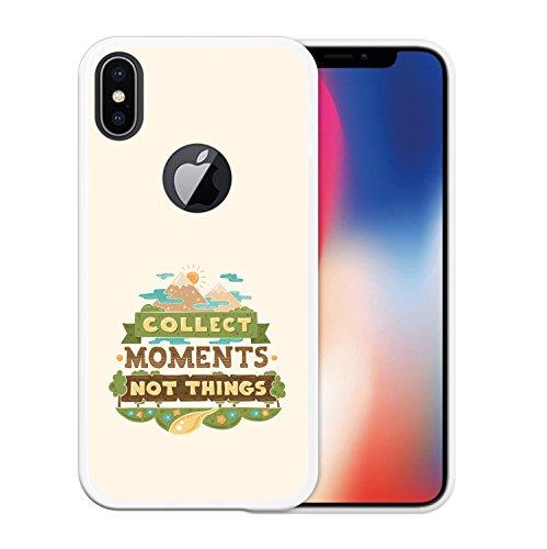 iPhone X Hülle, WoowCase Handyhülle Silikon für [ iPhone X ] Motivierungssatz - Impossible Handytasche Handy Cover Case Schutzhülle Flexible TPU - Transparent Housse Gel iPhone X Transparent D0295