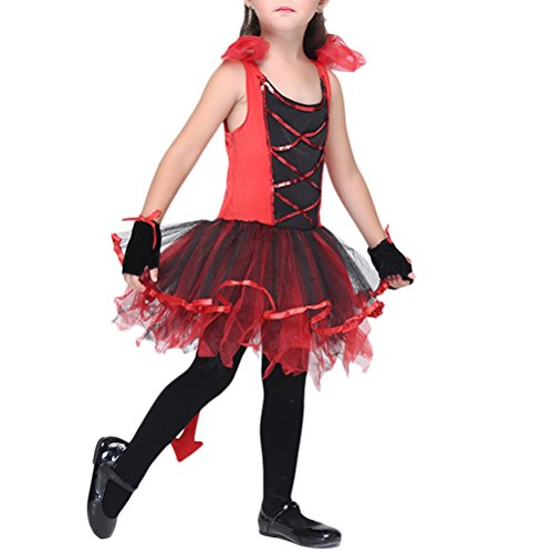 Zhuhaitf Child Girls Catwoman Costumes Party Cosplay Costume Halloween Girls' Fancy Dress 3838#