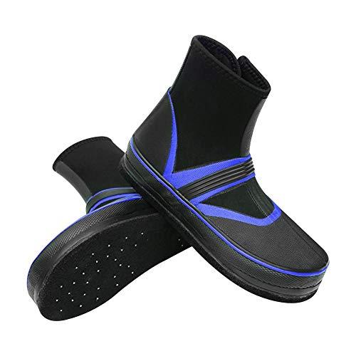 Xiliary Wasserdichte Angelschuhe, Meerwasser Nagel Schuhe Regen Stiefel Rutschfeste Filz unten Angeln Schuhe Gang für Männer Frauen - Angeln Für Stiefel Frauen