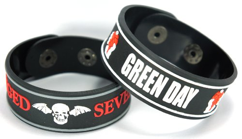Avenged Sevenfold Green Day 2pcs NEU. Bracciale Wrist Band 2 X 99 A92