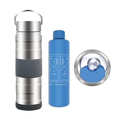 Dison Care Insulin-Kühltasche Travel, Insulin-Kühler, Halten Sie Insulin bei 2-8 Grad 35 Stunden, Medizinische Kühltasche, Große Kapazität, Silber