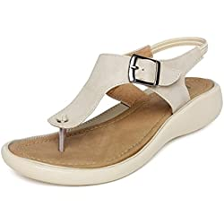 Vendoz Women Elegant Cream Sandals - 40 EU