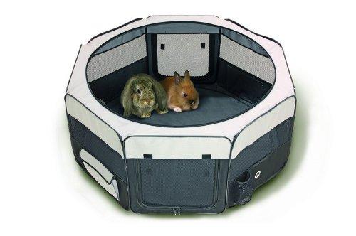 Welpengehege Welpenauslauf Freigehege Hunde Box Laufstall Welpenzaun Welpen Gitter Freilaufgehege Laufheck 112 cm -
