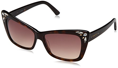 Swarovski sonnenbrille sk0103 5652f, occhiali da sole donna, marrone (braun), 56