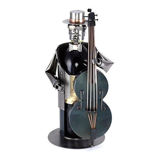 Weinflaschenhalter- Kontrabass - Schönes Geschenk für Musiker