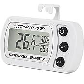 Digitales Kühlschrankthermometer wasserdicht Gefrierschrankthermometer für Gefrierschrank, Kühlschrank, Tiefkühltruhe, Weinkühlschrank, Minibar usw.