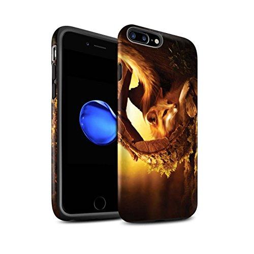 Officiel Elena Dudina Coque / Matte Robuste Antichoc Etui pour Apple iPhone 7 Plus / Cleopatra/Serpent Doré Design / Les Animaux Collection Jacinthe