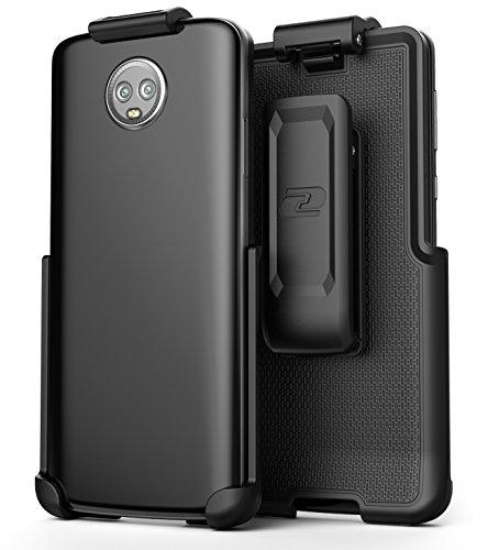 Moto G6Gürtelclip (Fall Frei Design), CLIPMATE eingefasst² Rutschfest Drehbar Holster-für Motorola G6(Glatt Schwarz) Clipmate Clip