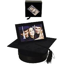 Widdop Bingham - Juego de marco de fotos y caja con forma de birrete de graduación