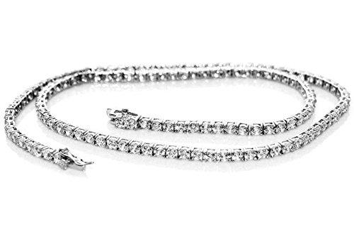 Collana collier tennis in argento rodiato oro bianco con zirconi - argento 925