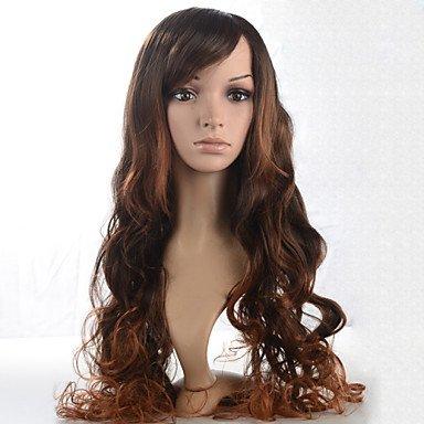 HJL-2015 femmes Ombre mode onduleux naturel chaleur janpanese cheveux perruque synth¨¦tique r¨¦sistant j45-2t30 28 \\