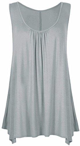 Sugerdiva - Robe - Plissée - Femme Noir noir 23-46 Gris