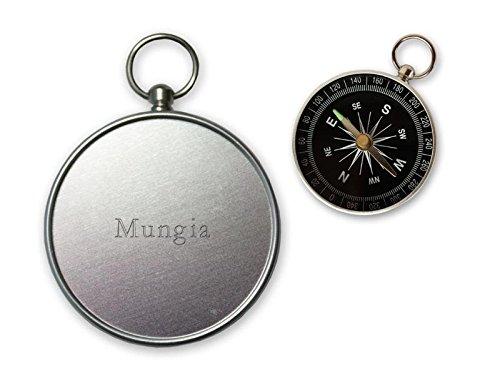 Pequeña brújula con grabado nombre de Mungia (ciudad / asentamiento)