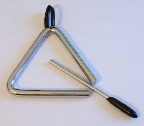 CLUB SALSA Triangel mittel mit Schlägel und gummierter Halteschlaufe -