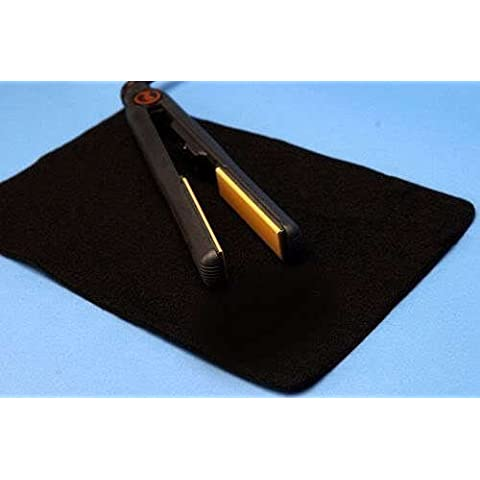 Black Heat Resistant Flat Mat For GHD Hair Straightener by mateque