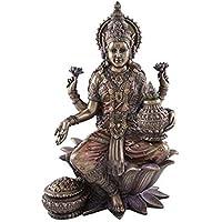 Buddha Lakshmi bronzefarben FIGUR DEKO GLÜCK LIEBE FRUCHTBARKEIT WOHLSTAND NATUR
