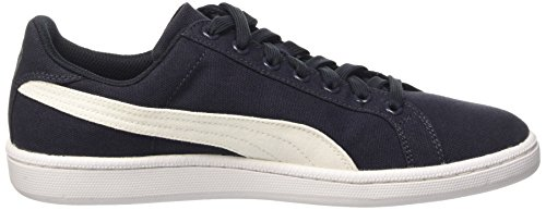 Puma Smash Canvas, Chaussures de Tennis Unisexe Adulte Bleu - bleu