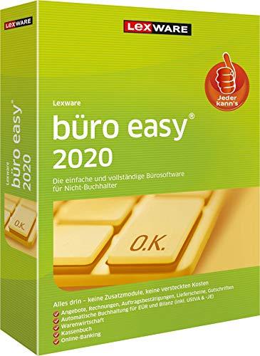 Lexware büro easy 2020 Minibox (Jahreslizenz)|für Kleinunternehmer und Existenzgründer|Bürosoftware mit Basisfunktionen, Kassenbuch, Warenwirtschaft