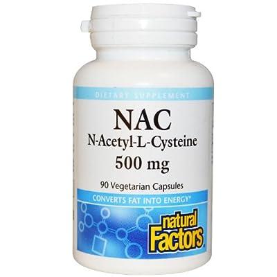 Natural Factors NAC - N-Acetyl-L Cysteine 500mg, 90 Capsules