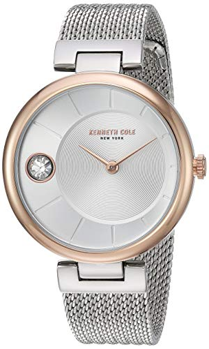 Kenneth Cole KC50786003 - Reloj de Pulsera para Mujer, diseño clásico, Color Oro Rosa y Plateado