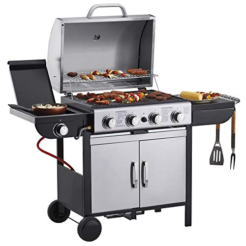 Blazebox Gas BBQ Grill 4 + 1 Side Burner, Stainless Steel Finish