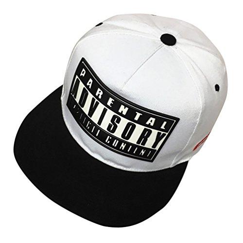 Imagen de missfox sombrero plano de béisbol accesorios para parejas hip hop snapback blanco
