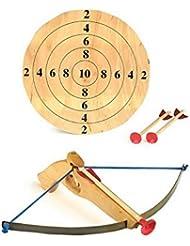 Sportarmbrust mit Zielscheibe und drei Pfeilen, für Kinder ab 6 Jahren, hochwertige Verarbeitung