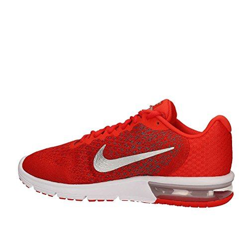Nike Air Max Sequent 2 Laufschuhe Sportschuhe Schuhe für Herren Rot (Max Orange/Cool Grey/University Red/Metallic Cool Grey)