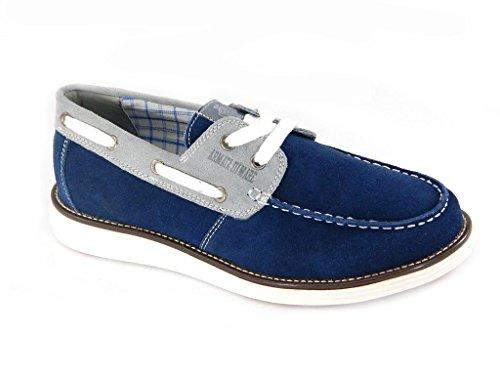Armata di mare Mocassini uomo blu grigio scarpe da barca 40109.TG.43