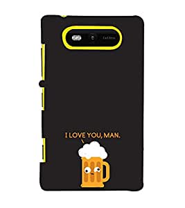 EPICCASE cheers Mobile Back Case Cover For Nokia Lumia 820 (Designer Case)