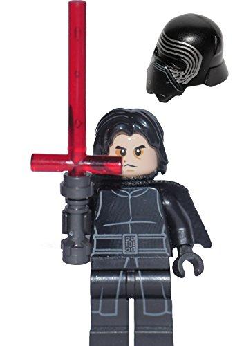 Preisvergleich Produktbild LEGO Star Wars Minifigur - Kylo Ren mit Lichtschwert mit Helm & Haaren aus Set 75139