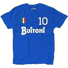 KiarenzaFD - Camiseta vintage de fútbol del Nápoles, número 10, Diego Armando Maradona,