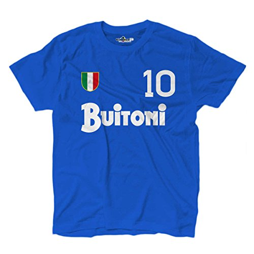 KiarenzaFD - Camiseta vintage de fútbol del Nápoles, número 10, Diego Armando Maradona, temporada 87-88, KTS01849_L, Bright Royal, Large