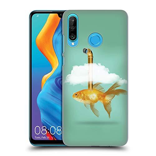 fizielle Vin Zzep Periskop Goldfisch Fisch Ruckseite Hülle für Huawei P30 Lite ()