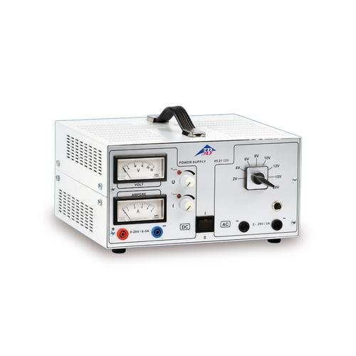 3B Scientific U8521131-230 AC/DC-Netzgerät, 0V-20V, 0-5 Amp, 230V, 50/60 Hz 5/5/3 Amps