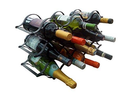 Weinregal für 13 Flaschen freistehendes Metall. Modernes & Minimalistisches Design für Weinliebhaber