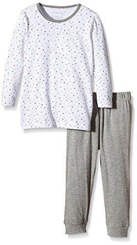 NAME IT Baby-Mädchen Zweiteiliger Schlafanzug NITNIGHTSET M G NOOS, Mehrfarbig (Bright White), 86