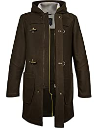 Musterbrand Core Abrigo Hombre Wanderer Two long, hooded Jacket Marrón